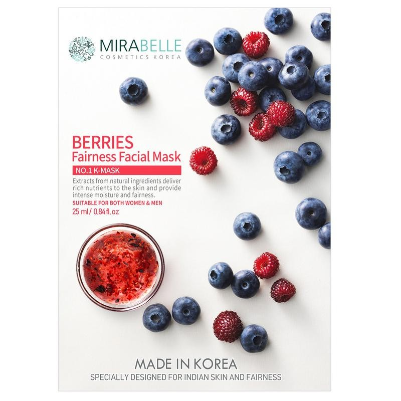 Mirabelle Korea Berries Fairness Facial Mask