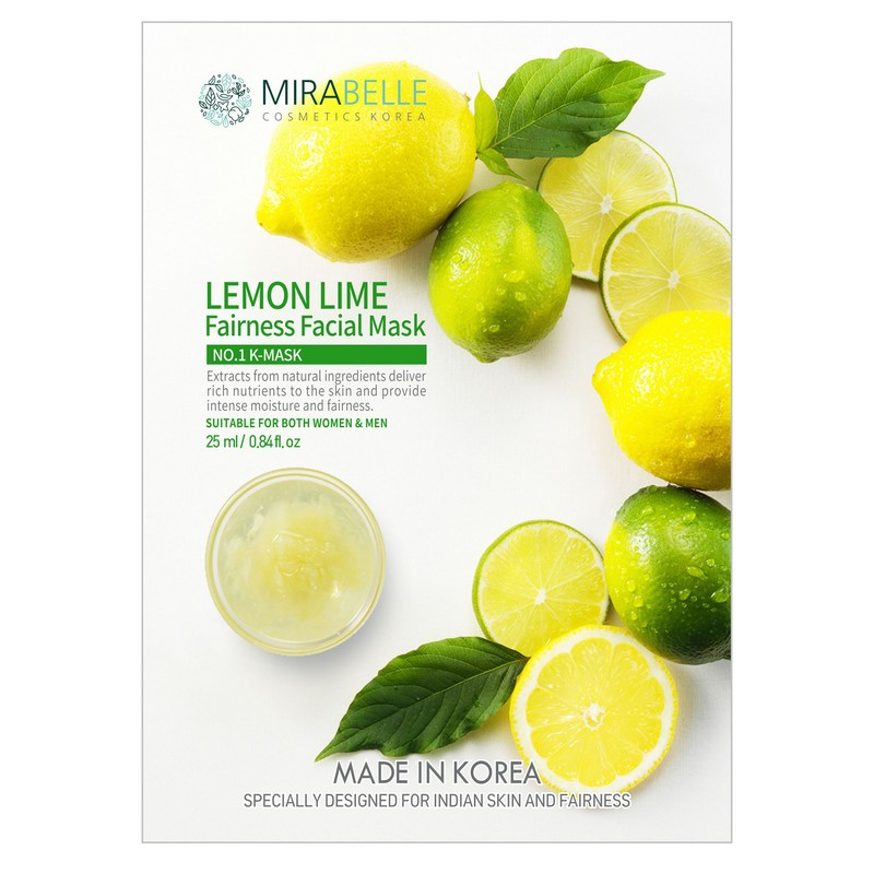 Mirabelle Korea Lemon Lime Fairness Facial Mask