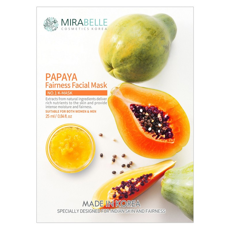 Mirabelle Korea Papaya Fairness Facial Mask