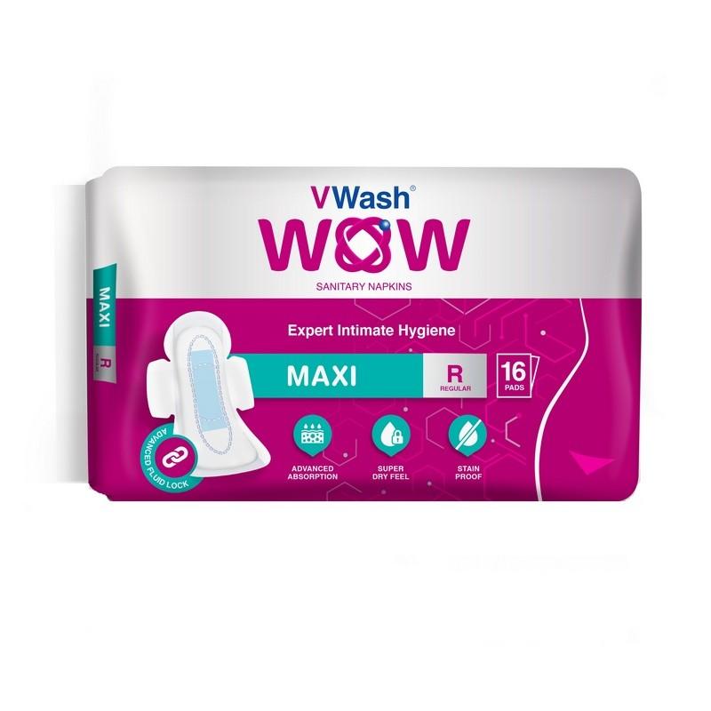 VWash WOW Sanitary Napkin Maxi Regular 16 Pads
