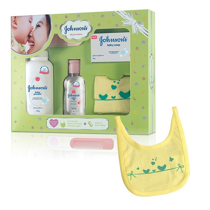 Johnson's Baby Gift Box Powder, Soap And Oil Green