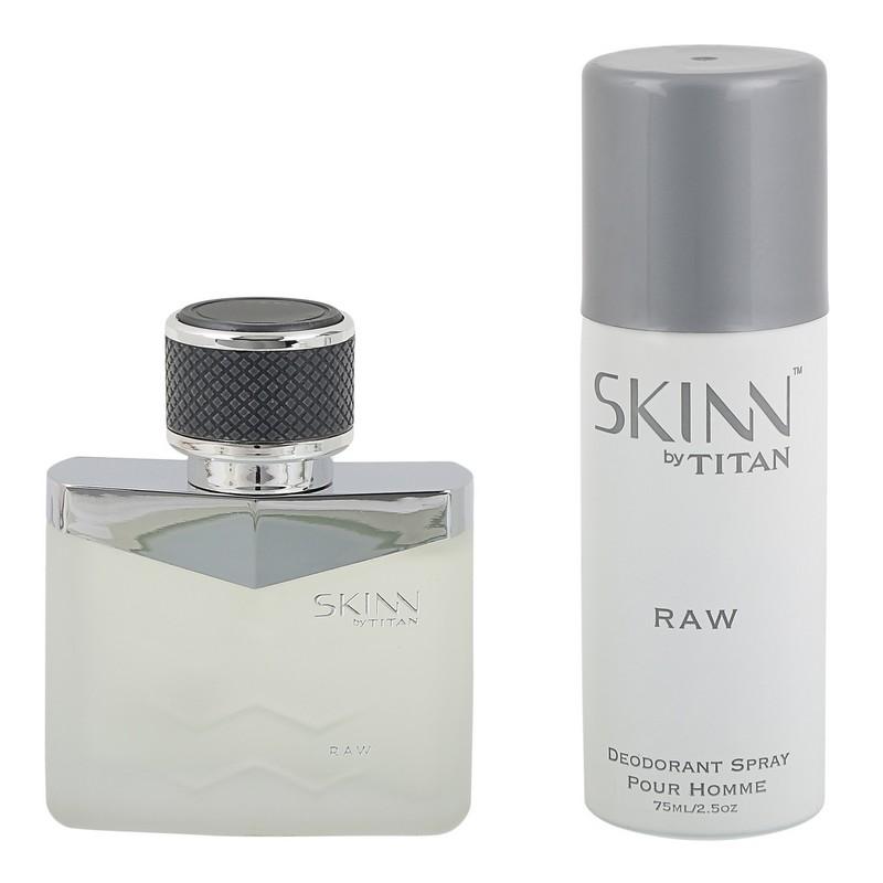 Skinn By Titan Raw Coffret For Men EDP 50ml & Deodorant 75ml