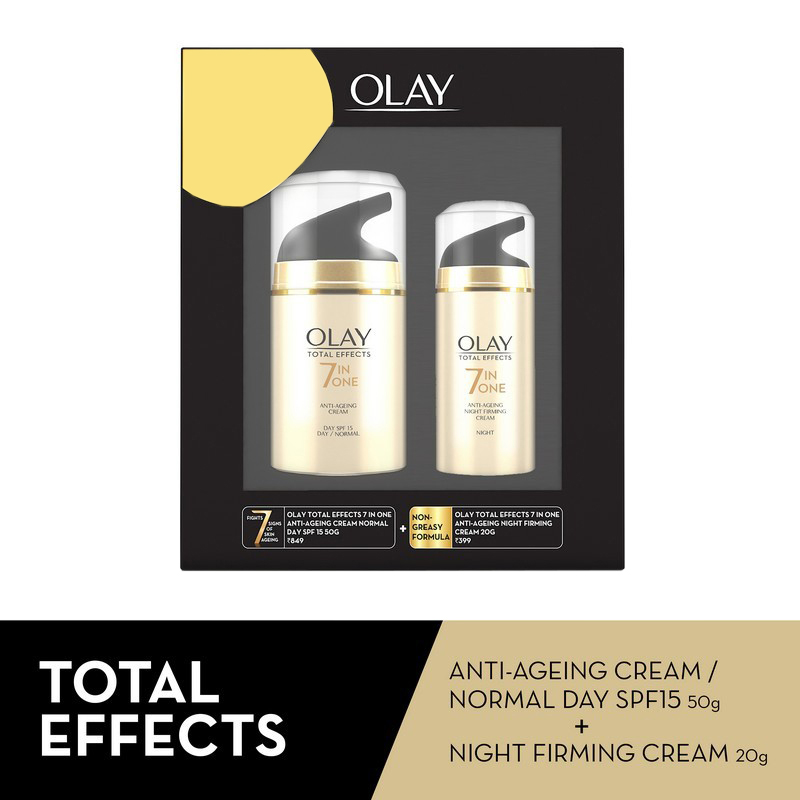 Olay Total Effects 7 In One Anti-Ageing Cream 50gm + Night Firming Cream 20gm
