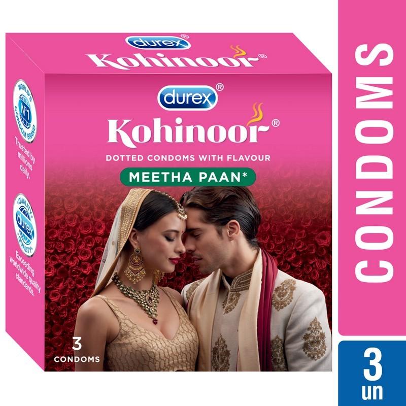 Durex Kohinoor Dotted Meetha Pan Condoms Pack Of 3