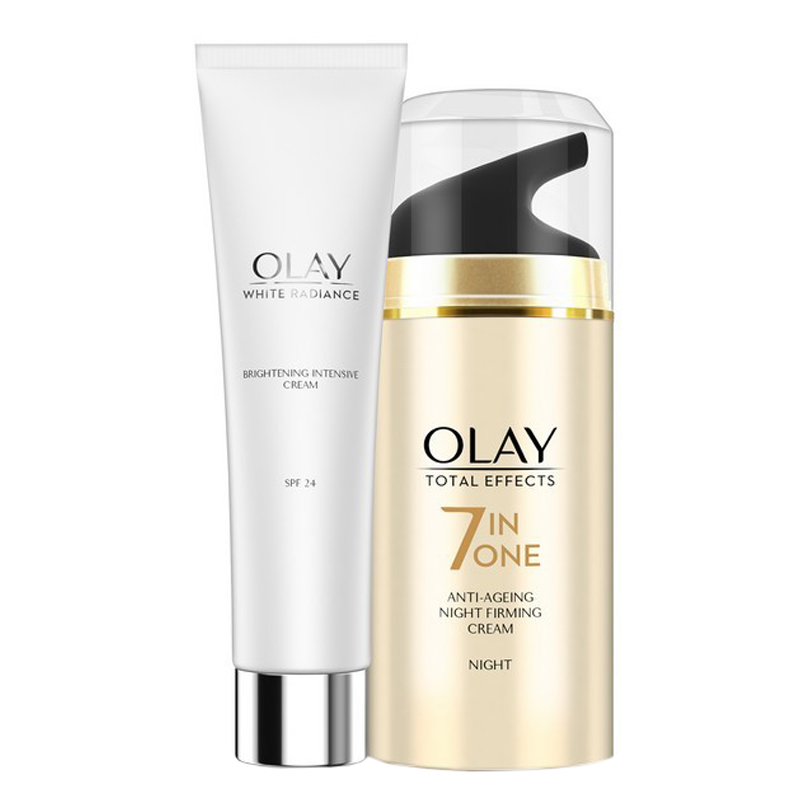 Olay White Radiance Brightening Intensive Cream 20gm + Total Effects 7 In One Firming Cream 20gm