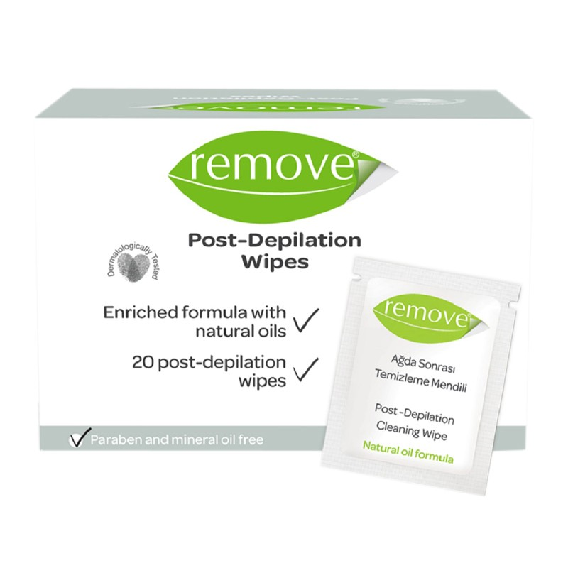 Remove Post Depilation Cleansing Wipes 20 Pieces