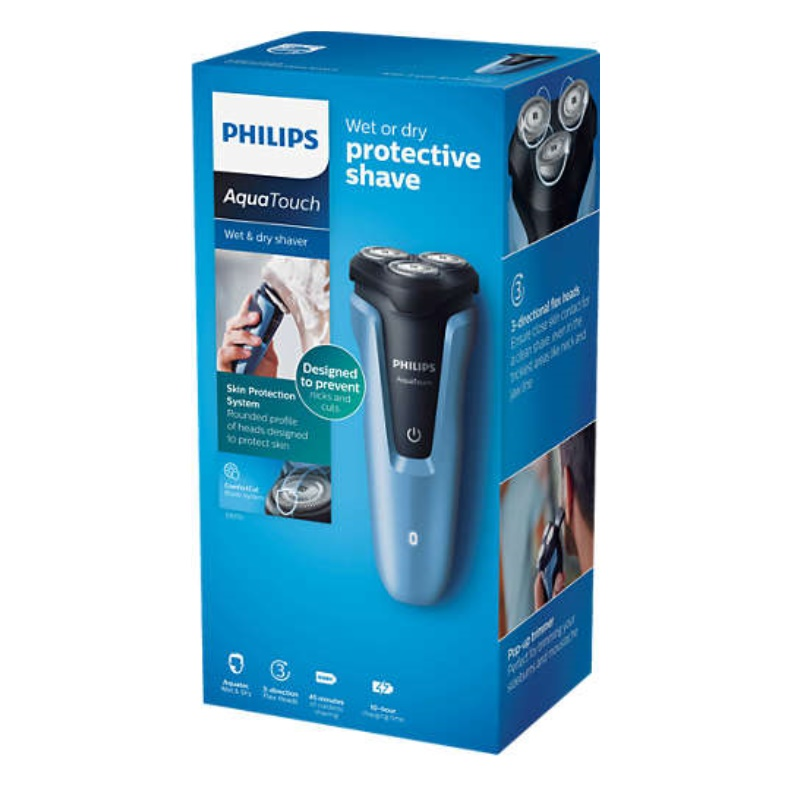 Philips AquaTouch Wet & Dry Electric Shaver For Men S1070/04