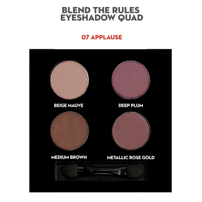 Sugar Blend The Rules Eyeshadow Quad Applause 07
