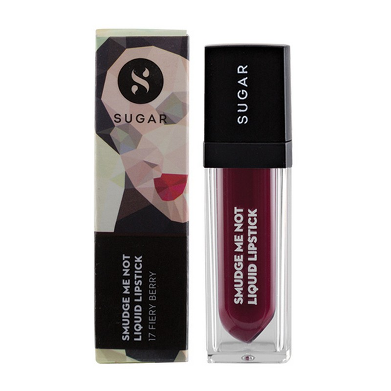 Sugar Smudge Me Not Liquid Lipstick Fiery Berry 17