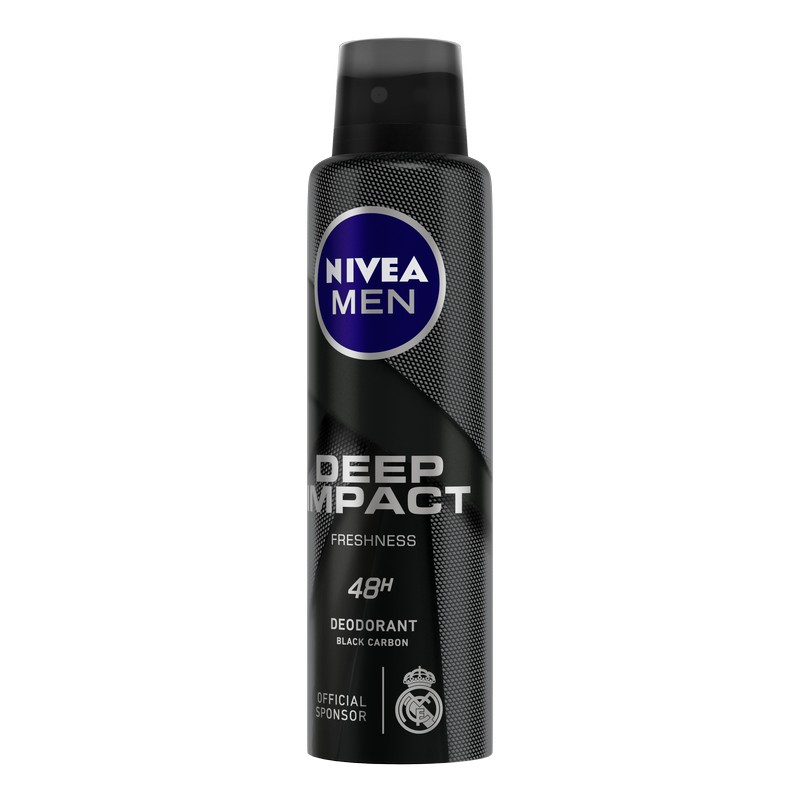 Nivea Men Deep Impact Freshness 48H Deodorant Black Carbon 150ml