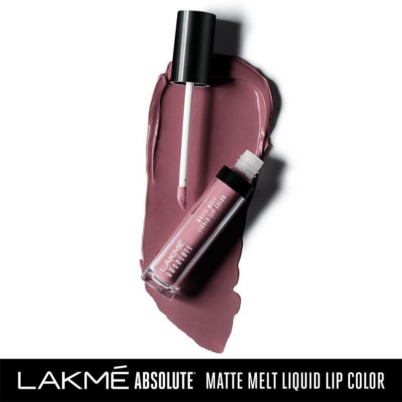 Lakme Absolute Matte Melt Liquid Lip Colour Vintage Pink 6ml