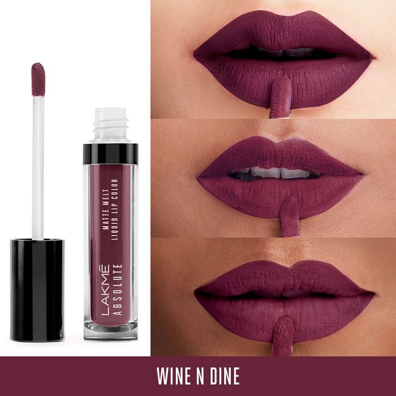 Lakme Absolute Matte Melt Liquid Lip Colour 06 Wine n Dine 6ml
