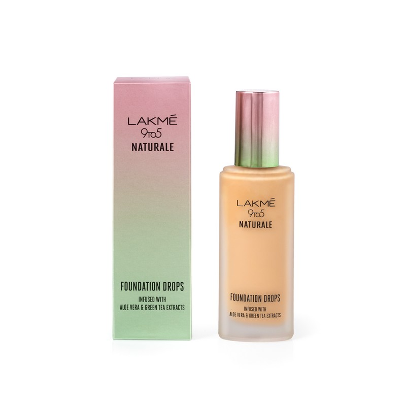 Lakme 9 To 5 Naturale Foundation Drops Rose Silk 18ml