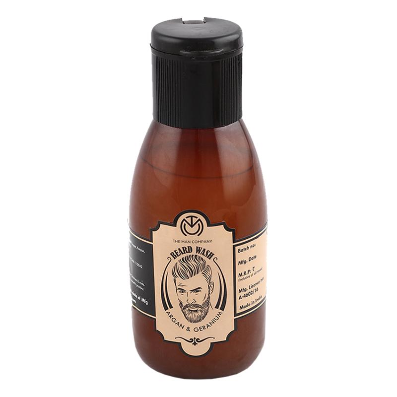 The Man Company Beard Wash Argan & Geranium 100ml