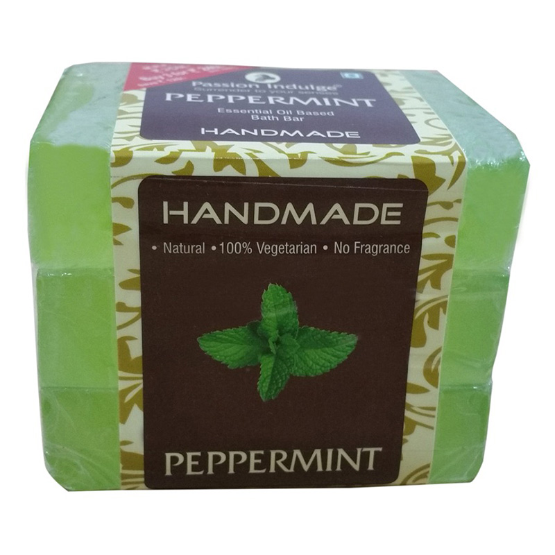 Passion Indulge Handmade Soap Pepparmint Pack Of 3