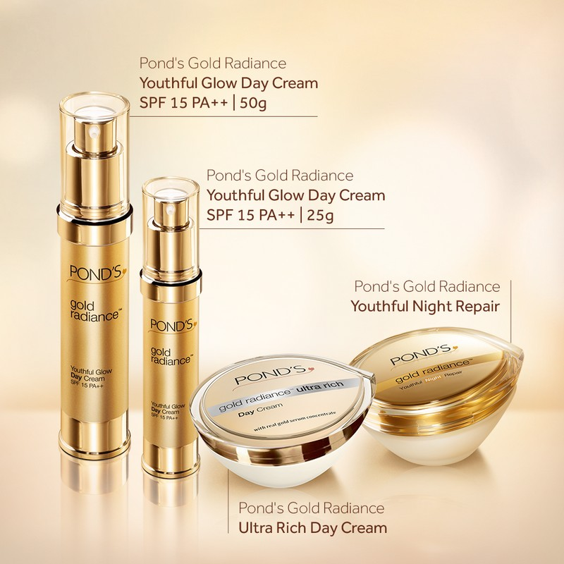 POND'S Gold Radiance Youthful Glow Day Cream SPF15 PA++ 50gm