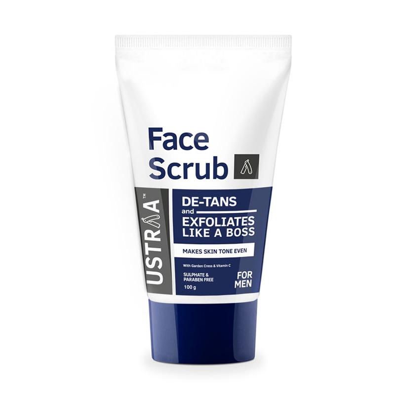 Ustraa Face Scrub De-Tans & Exfoliate Like A Boss 100gm