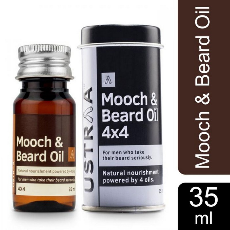 Ustraa Mooch & Beard Oil With Cedarwood & Wheat Germ Oil 35ml