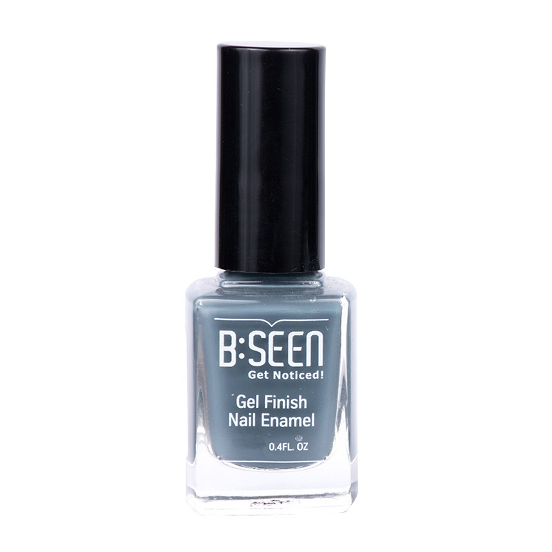 B:Seen Get Noticed Gel Finish Nail Polish Grey Suit 09