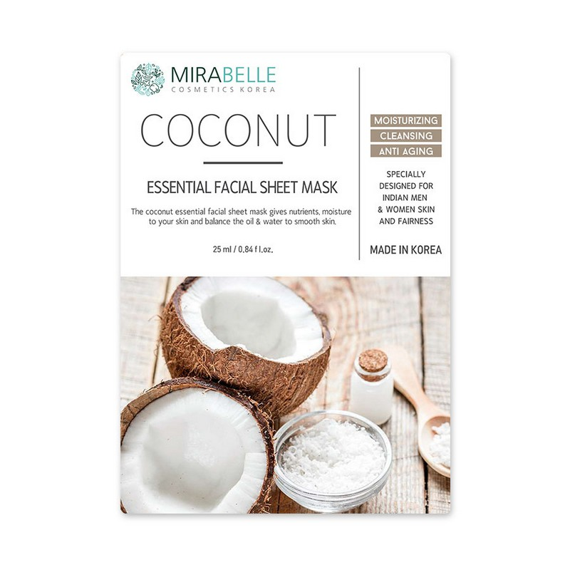 Mirabelle Korea Coconut Essential Facial Mask