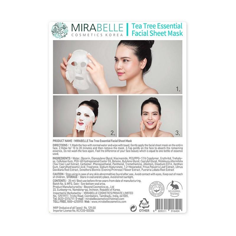 Mirabelle Korea Tea Tree Essential Facial Mask