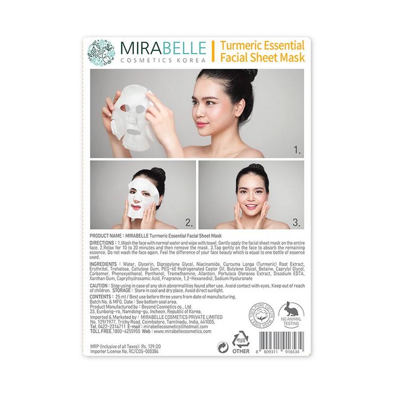 Mirabelle Korea Tumeric Essential Facial Mask