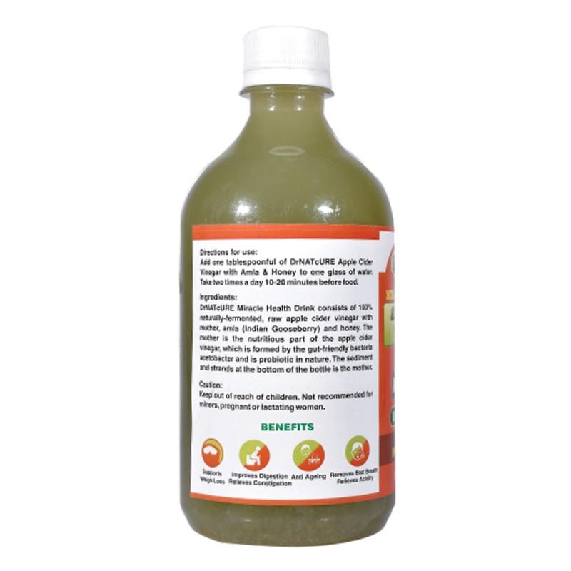 Dr Natcure Apple Cider Vinegar With Amla & Honey 500ml