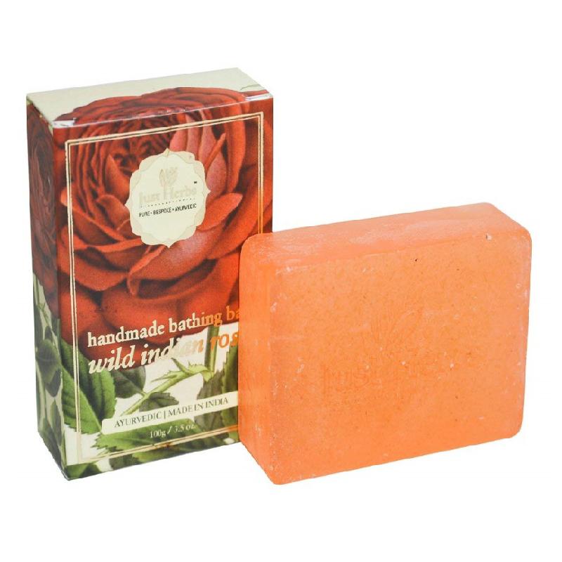 Just Herbs Wild Indian Rose Handmade Bathing Bar 100gm