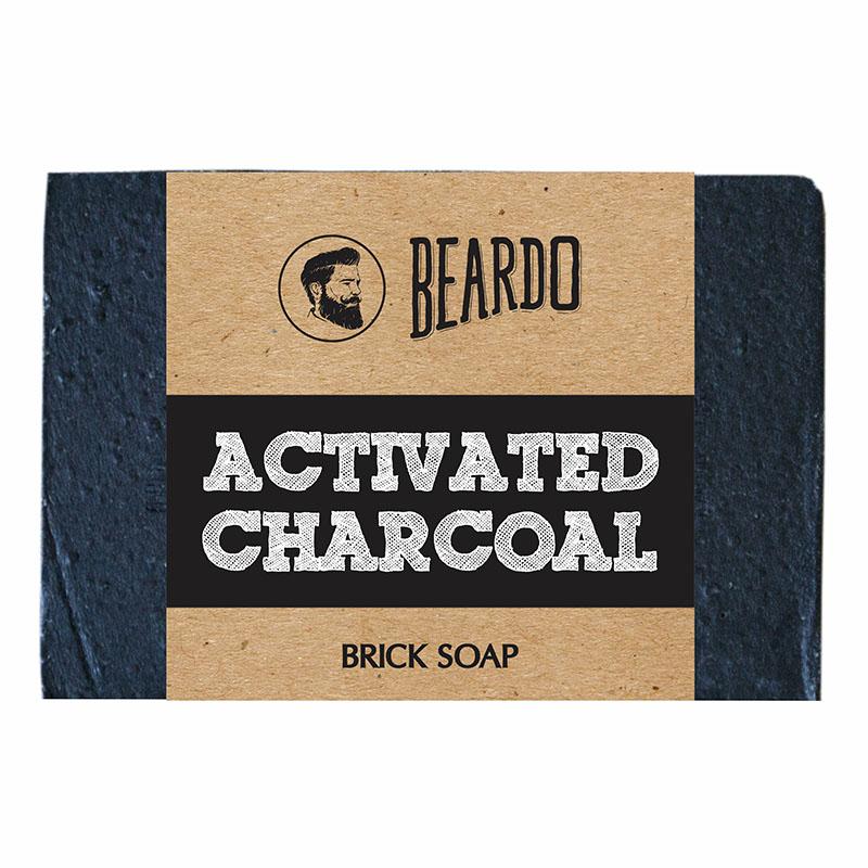 Beardo Activated Charcoal Brick Soap 125gm