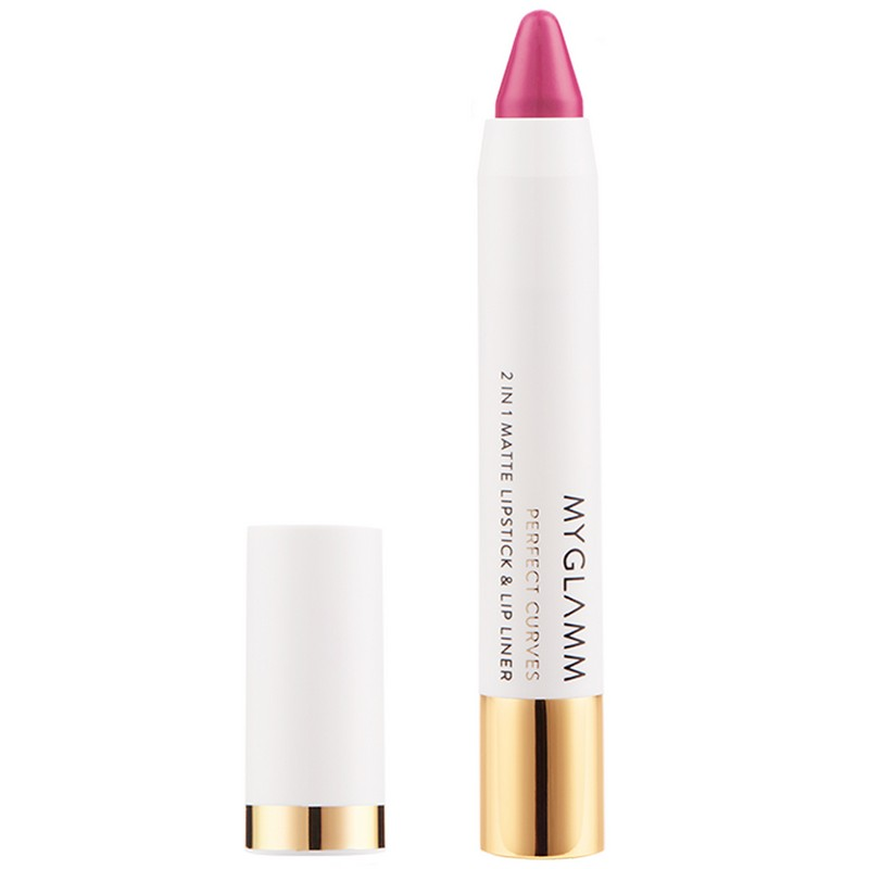 MyGlamm Perfect Curves 2-In-1 Matte Lipstick & Lip Liner Carnation
