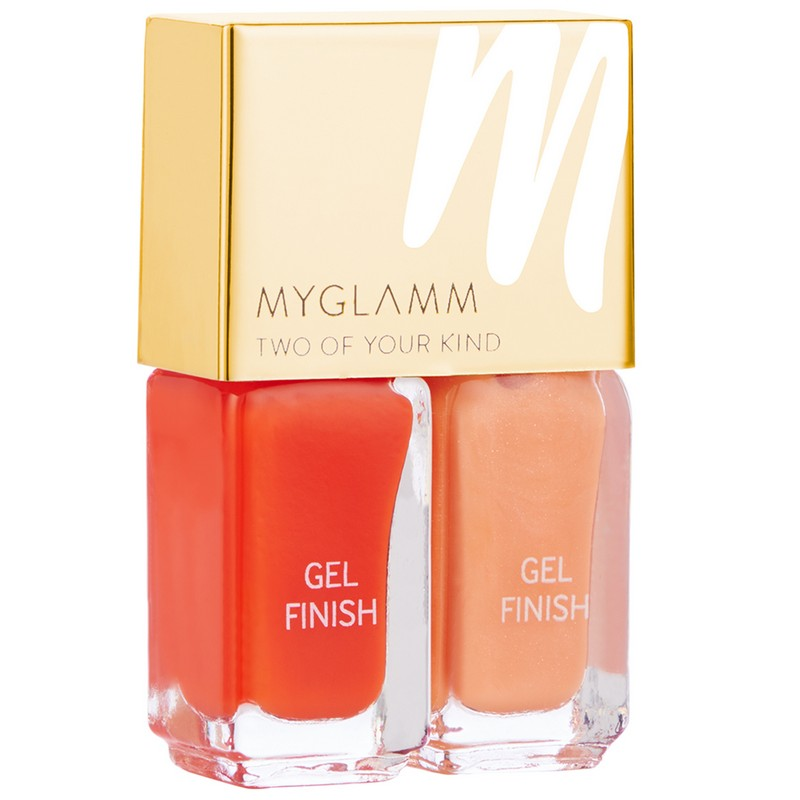 MyGlamm Two Of Your Kind Gel Finish Duo Nail Polish Saffron