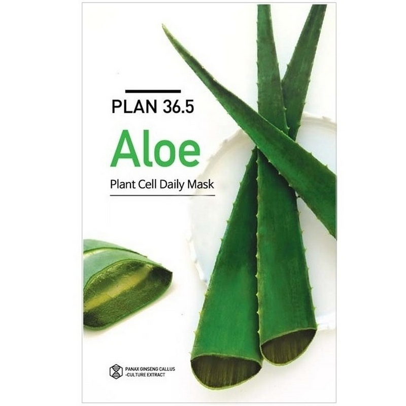 Plan 36.5 Aloe Plant Cell Daily Mask With 23ml Essence
