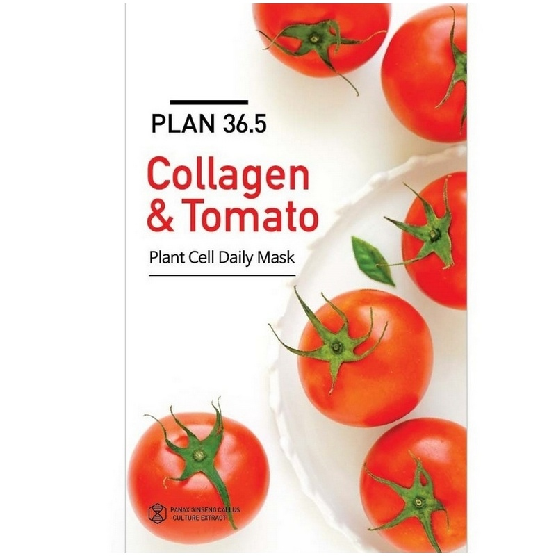 Plan 36.5 Collagen & Tomato Plant Cell Daily Mask 23ml