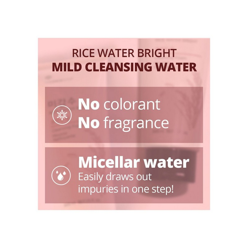 The Face Shop Rice Water Bright Mild Cleansing Water 500ml
