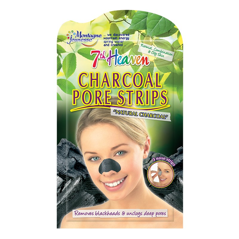 Montagne Jeunesse Charcoal Nose Pore Strips Pack Of 3