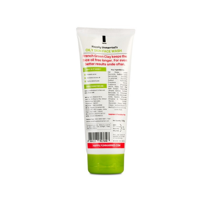 Happily Unmarried I'm Just Your Type Face Wash For Oily Skin 100gm