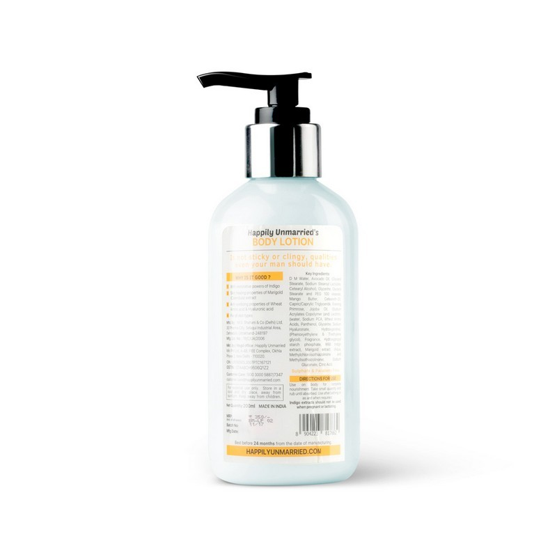 Happily Unmarried Not Sticky 'Cause It's A Lightweight Body Lotion Indigo Marigold 200ml