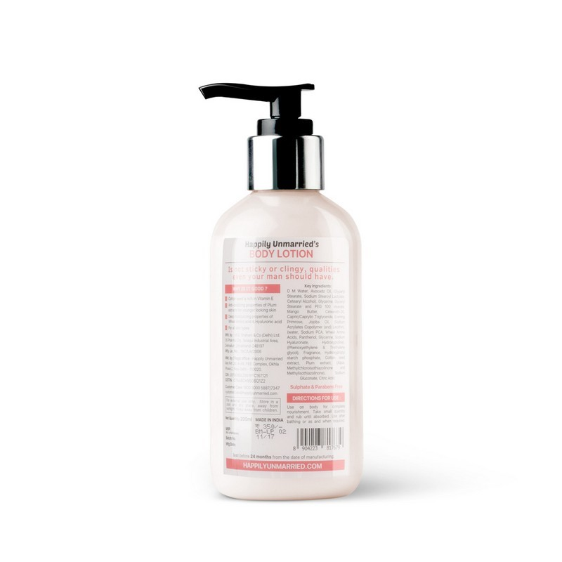 Happily Unmarried Not Sticky 'Cause It's A Lightweight Body Lotion Cottonseed Plum 200ml