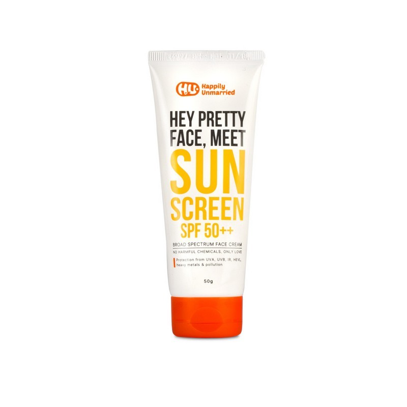 Happily Unmarried Hey Pretty Face, Meet Sunscreen SPF50++ 50gm
