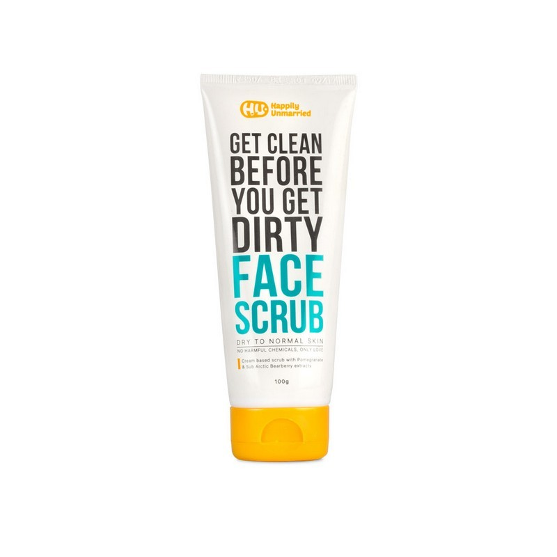 Happily Unmarried Get Clean Before You Get Dirty Face Scrub For Dry To Normal Skin 100gm