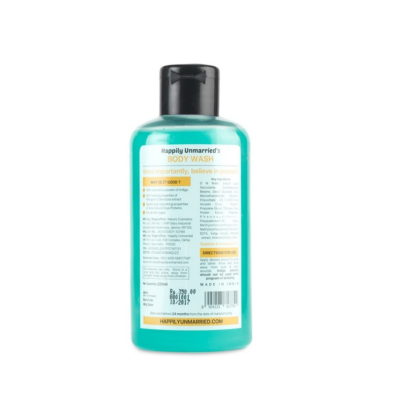 Happily Unmarried Believe In the Power Of A Good Body Wash Indigo Marigold 200ml