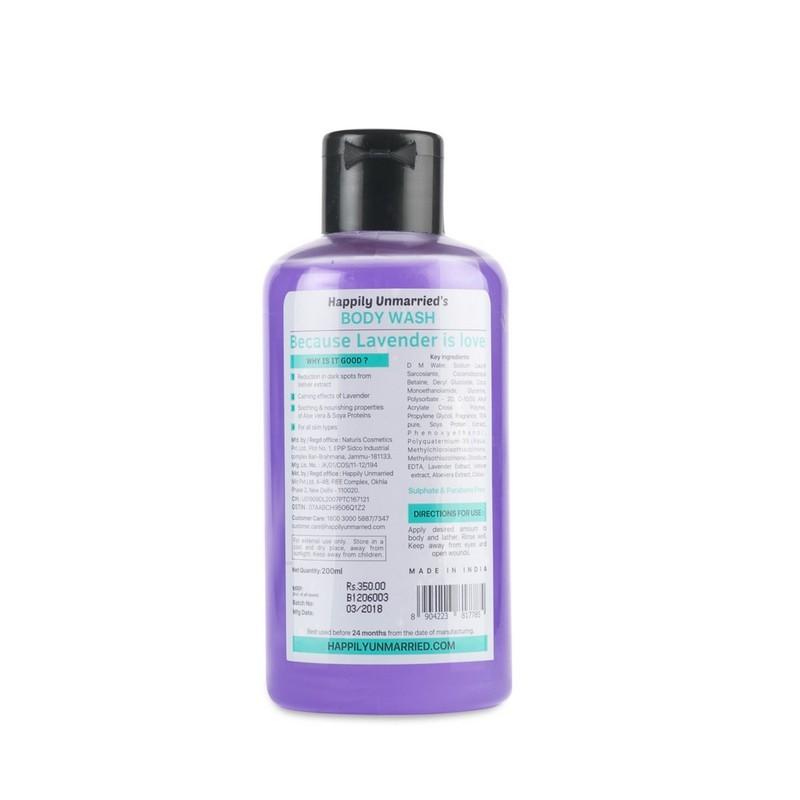 Happily Unmarried All You Need Is Love And Lavender Body Wash Lavender Vetiver 200ml