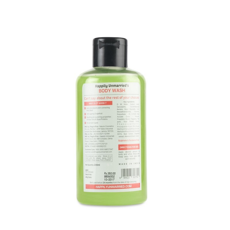 Happily Unmarried Your Mom Would Also Approve Of This Body Wash Basil Grapefruit 200ml