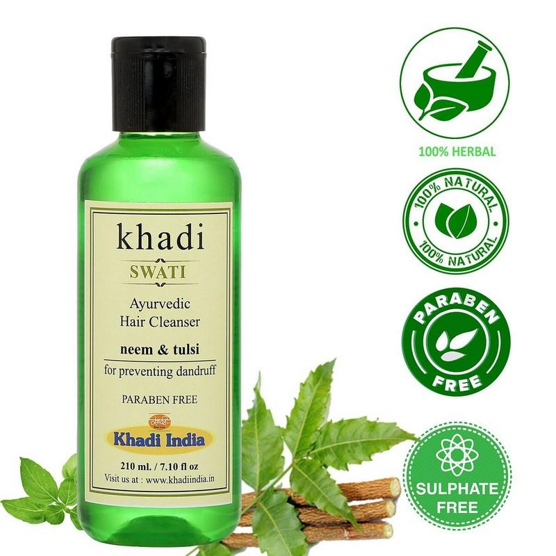 Khadi Herbal Neem And Tulsi Hair Cleanser 210ml