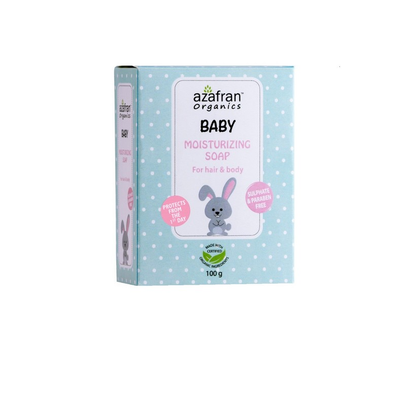 Azafran Baby Moisturising Soap For Hair And Body 100gm