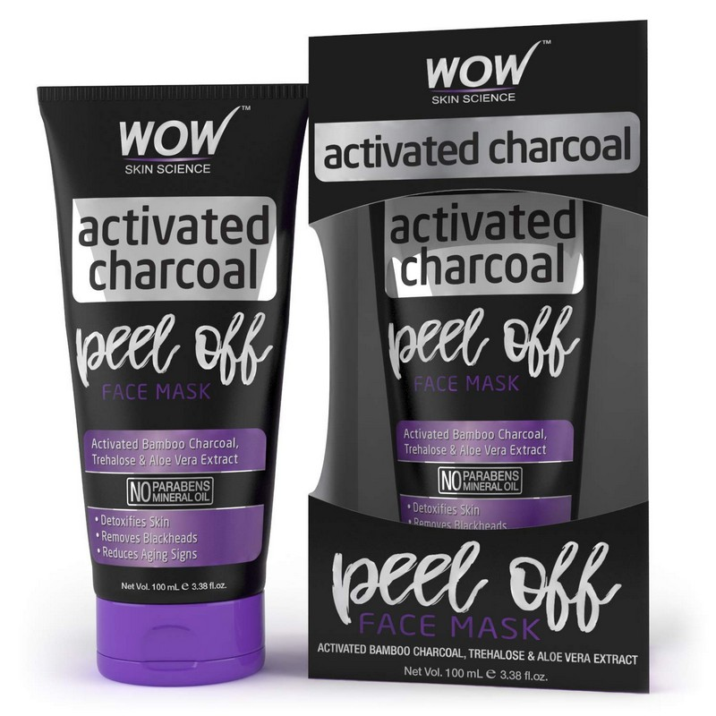 WOW Skin Science Activated Charcoal Peel Off Mask 100ml