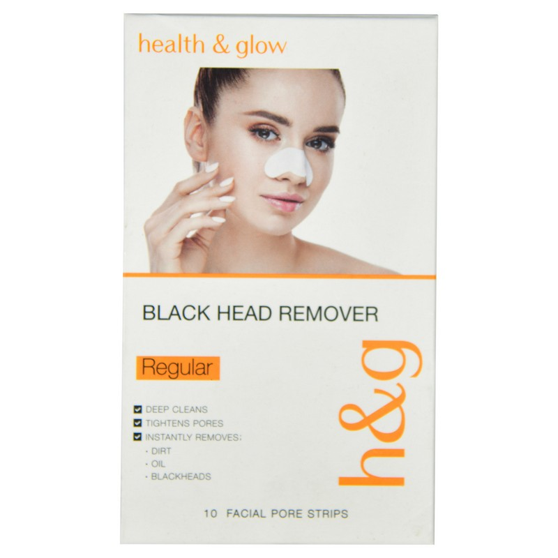 Health & Glow Blackhead Remover Strip Regular Pack Of 10