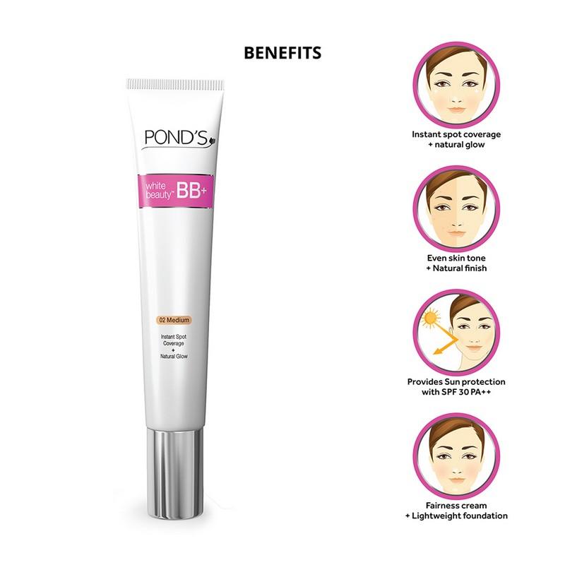 POND's White Beauty BB+ Fairness Cream 02 Medium 50gm
