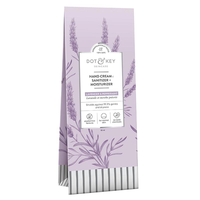 Dot & Key Hand Cream : Sanitizer + Moisturizer Lavender & Peppermint