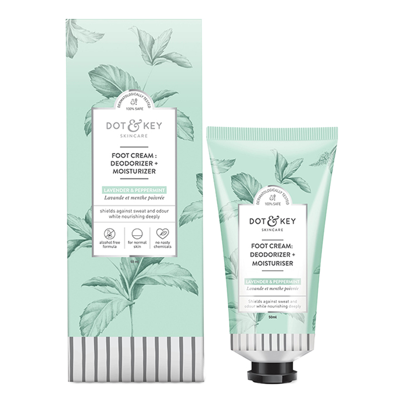 Dot & Key Foot Cream : Deodorizer + Moisturizer Lavender & Peppermint